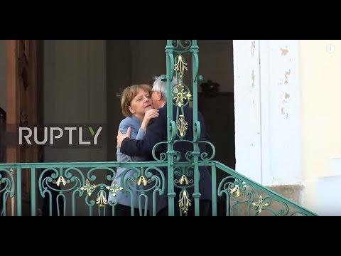 Germany: Merkel welcomes Stoltenberg and Juncker in Meseberg