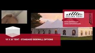 10' X 30' Tent & Canopy - Standard Sidewall Options