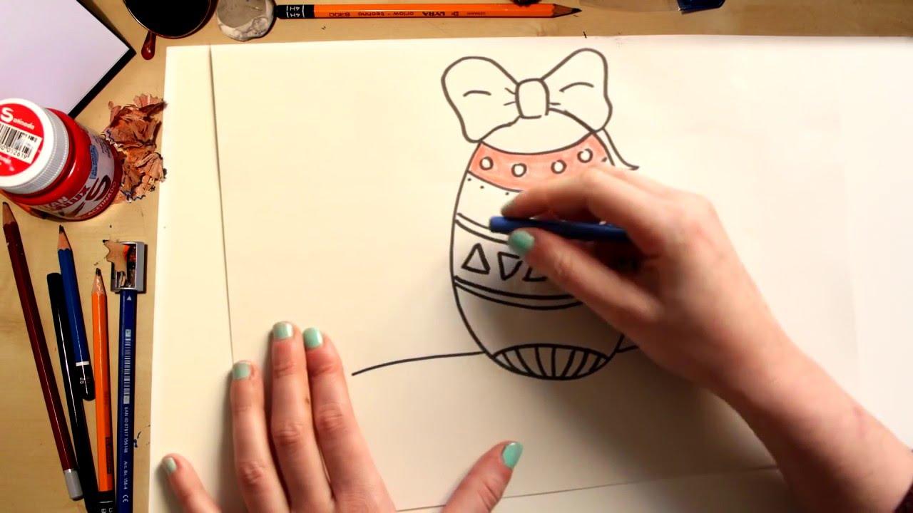 Como dibujar un Huevo de Pascua - dibujos para niños