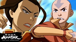 Aang Fights Azula In The Drill To Save Ba Sing Se! | Avatar