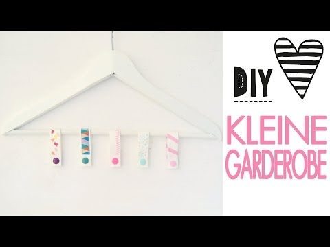 DIY Schrank Organizer - Mini Garderobe, Bügel für Gürtel und Tücher aus SnapPap