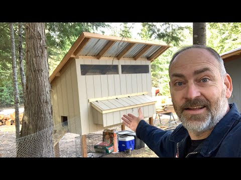 , title : 'DIY Backyard Chicken Coop Tour   How To Build   Easy to Clean