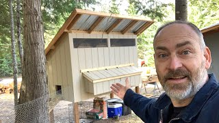 DIY Backyard Chicken Coop Tour | How To Build | Easy To Clean