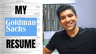 The Resume That Got Me Into Goldman Sachs (Investment Banking Resume Tips)