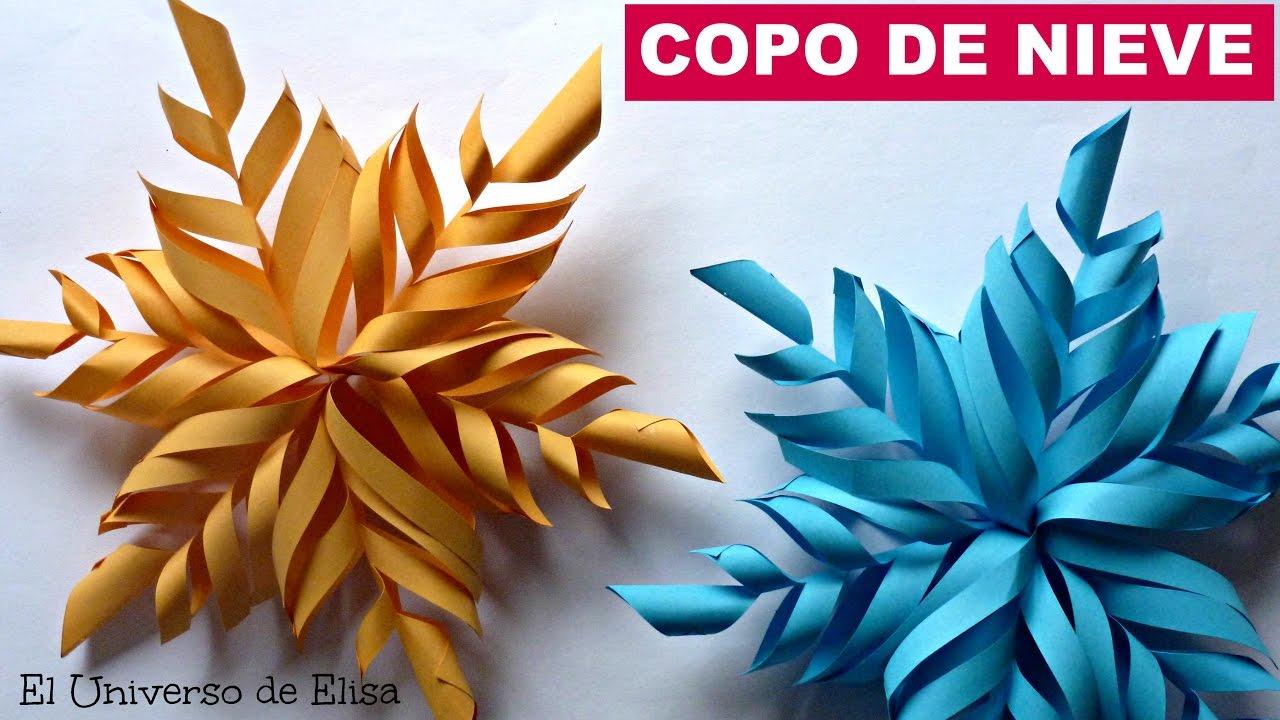 Adorno de Navidad, Copo de Nieve de Papel. How to Make Paper Snowflakes