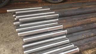 Болт фундаментный анкерный м42х2000 тип 1.2 изогнутый ГОСТ 24379.1-2012 сталь 35 от компании АК Болт и Гайка - видео
