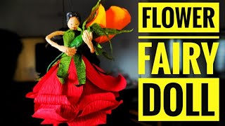 Easy DIY Handmade Flower Fairy Doll   Paper Doll Craft Idea At Home   By Vrindhaz Crafts.