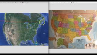 What happened to Maine? | New N. America google map WAY off