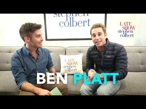 Ben Platt's Late Show Dressing Room Q&A