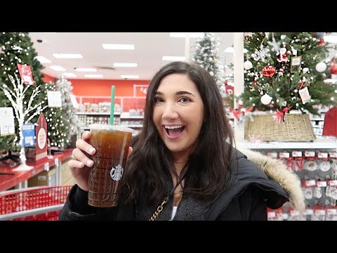 VLOG: shopping at target for christmas decor + holiday supplies!!