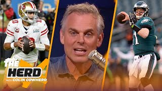 Jimmy Garoppolo & Carson Wentz NFL ratings prove they're undervalued QBs — Colin Cowherd | THE HERD