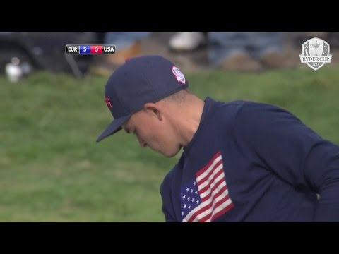 Rickie Fowler's Amazing Bunker Shot – Day 2 Fourballs – 2014 Ryder Cup