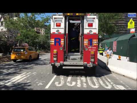 FDNY RESCUE 1 RESPONDING URGENTLY TO A CONFINED SPACE TRENCH RESCUE ON WEST 80TH IN MANHATTAN, NYC. Mp3