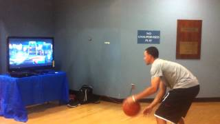 Stephen Curry playing