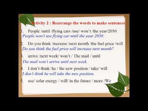 TIẾNG ANH 7 (10 NĂM) - UNIT 11: LESSON 2 - A CLOSER LOOK 2