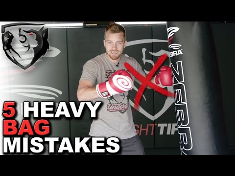 5 Common Heavybag Mistakes that Most Beginners Make