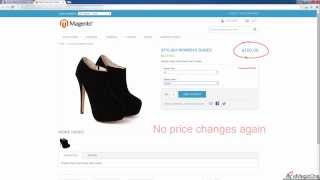 How to Make Price of Configurable Product Change When Combination is Selected