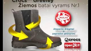 Непромокаемые Зимние ботинки крокс грилле М7 -26см CROCS Greeley сапоги - видео 1