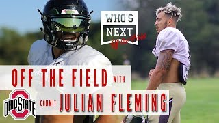 Off the Field with no. 1 receiver Julian Fleming!