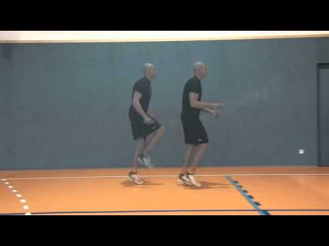 rope skipping with heavy thai rope