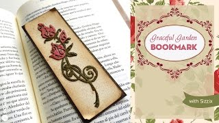 Cómo hacer un punto de lectura vintage. Tutorial con Sizzix/ Vintage bookmark Tutorial with Sizzix