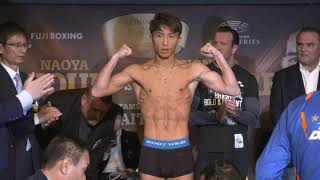 NAOYA INONUE v NONITO DONAIRE - OFFICIAL WEIGH IN (JAPAN) AS KALLE SAUERLAND WATCHES ON INTENSELY