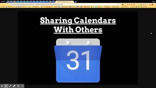 Sharing Calendars with Others - New Google Calendar