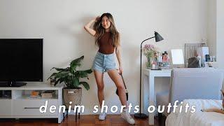 STYLING: HIGH WAISTED DENIM SHORTS | denim shorts outfit ideas