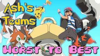 All of Ash Ketchum's Teams Ranked from Worst to Best