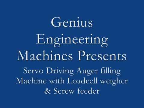 Loadcell Based Servo auger filler with Screw feeder