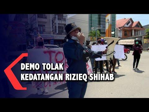 mahasiswa gelar aksi demo tolak kedatangan rizieq shihab ke gorontalo