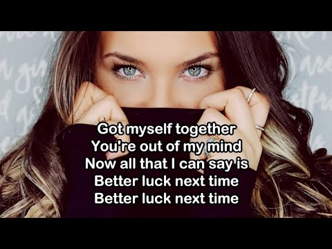 Better Luck Next Time - Kelsea Ballerini (Lyric/Lyrics Video)
