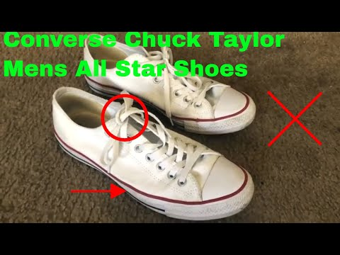 ✅  How To Use Converse Chuck Taylor Mens All Star Shoes Review