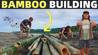 BecomingFilipino – BAMBOO BEACH HOME BUILDING | Ocean Water Treatment | PHILIPPINES LAND LIFE IN DAVAO