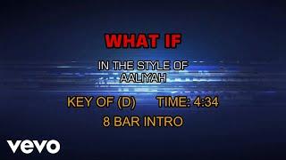 Aaliyah - What If (Karaoke)