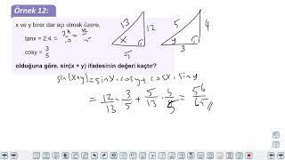 Eğitim Vadisi AYT Geometri 7.Föy Trigonometri Konu Anlatım Videoları