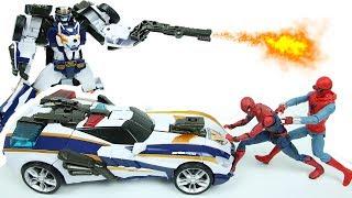 또봇 브이 경찰차 장난감 로봇 캡틴 폴리스 경찰 특공대 또봇V 자동차 Tobot V Police Car Transformer Robot Toys