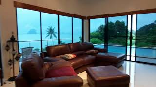 Sea Views, Sunsets and Karst Island Views from this Three Bedroom Deluxe House for Sale in Khao Thong, Krabi
