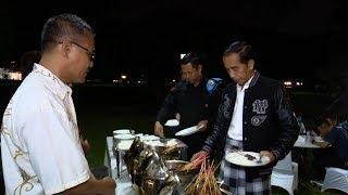Sambut Tahun Baru 2019, Jokowi Makan Malam Bersama Paspampres dan Karyawan di Istana Bogor