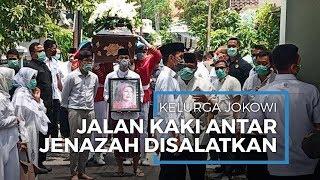 Jenazah Almarhumah Sudjiatmi Sempat Diantarkan Keluarga Jokowi Disalatkan di Masjid Baturrachman