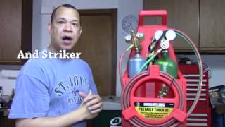Harbor Freight Portable Torch Kit With Oxygen And Acetylene Tanks  Review (Chicago Electric #65818)