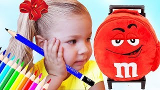 Roma and Diana pretend play School, Funny videos for children and toddlers by Kids Diana Show