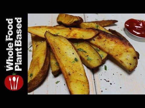 Plant Based Oil Free Garbage Potato Wedges: The Whole Food Plant Based Recipes