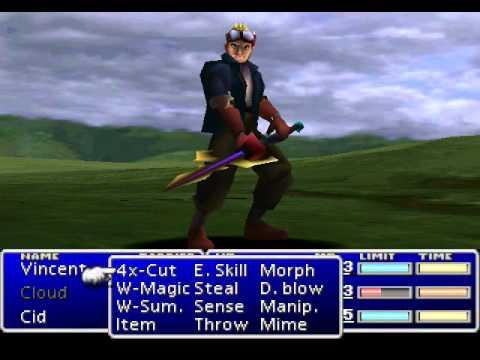 Final Fantasy VII - Cid Highwind's Limit Breaks