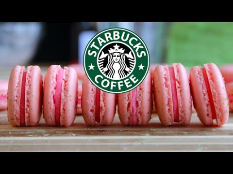 Starbucks Cherry Blossom Frappuccino-inspired Macaron (By Blanchturnip)