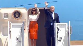 President Trump, Melania Trump to depart from Joint Base Andrews. Pres Trump Visit to Saudi Arabia.