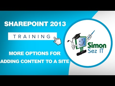 Microsoft SharePoint 2013 Training Tutorial - More Options for ...