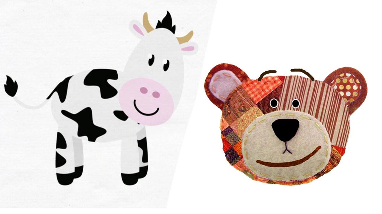 Los animales de la granja para niños con Traposo