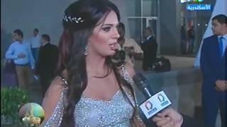 النجمة يورا حفل ختام مهرجان الاسكندرية السينمائي الدورة ٣٢