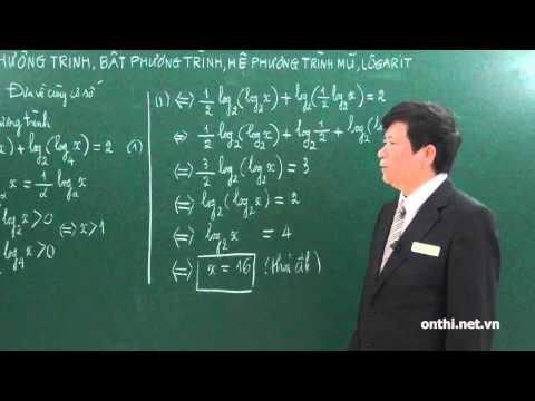 Chương 2-Bài 6-Phương trình, bất phương trình mũ và logarit (p1)